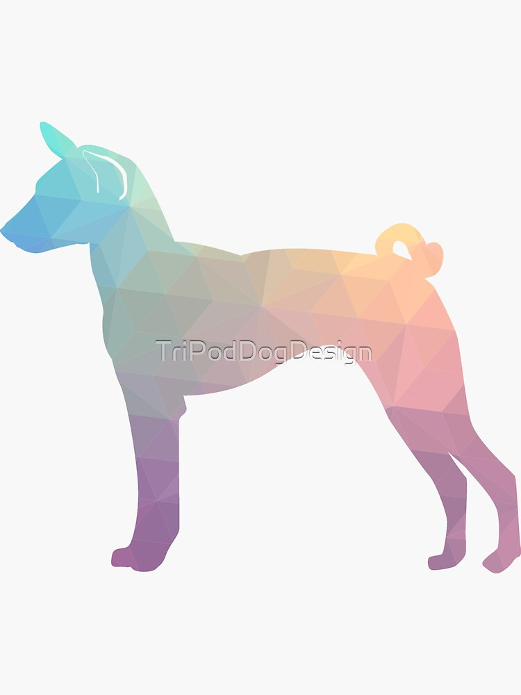Basenji Dog Breed Colorful Geometric Pattern - Pastel by TriPodDogDesign