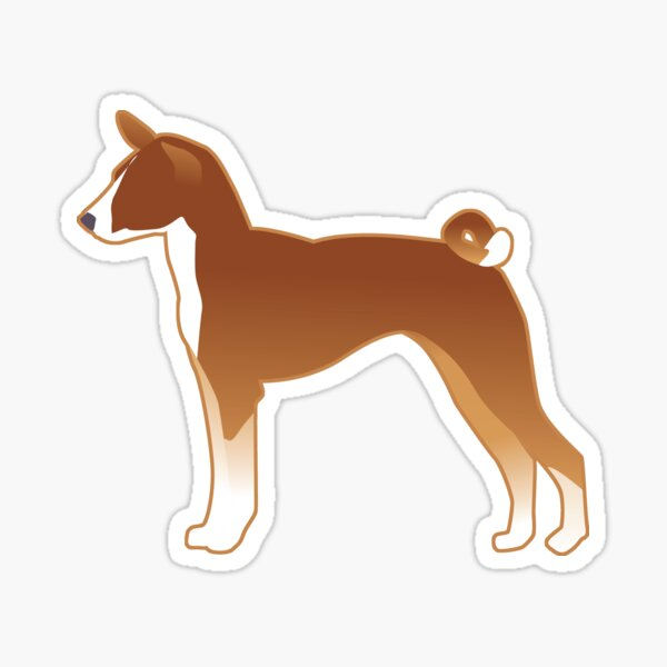 Basenji Dog Breed Illustration Silhouette Sticker