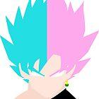 Goku SSB and Goku Black SSR by DerikTheCreator