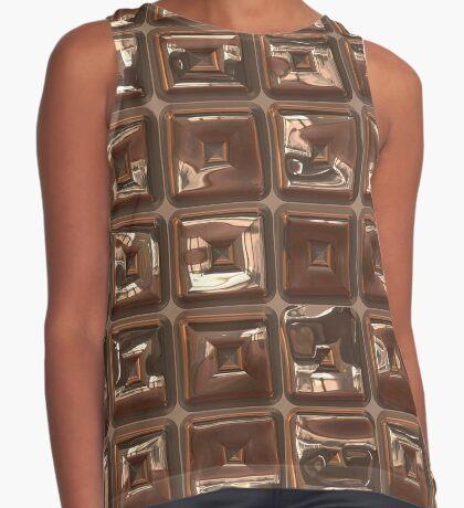 Golden Cubes Design by Julie Everhart Sleeveless Top