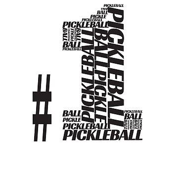Pickleball #1 Series T-shirt by pickleball
