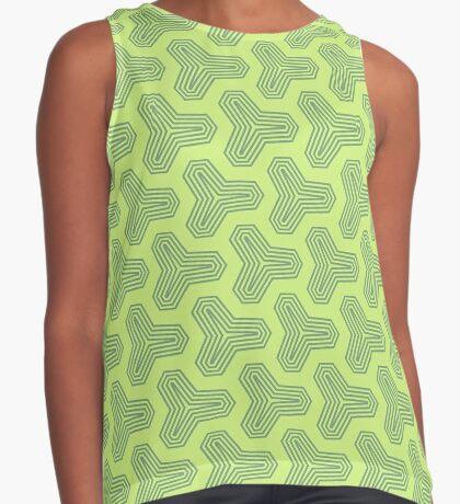 Retro Green Design by Julie Everhart Sleeveless Top