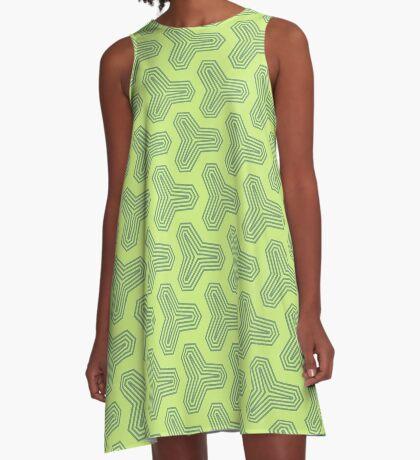 Retro Green Design by Julie Everhart A-Line Dress