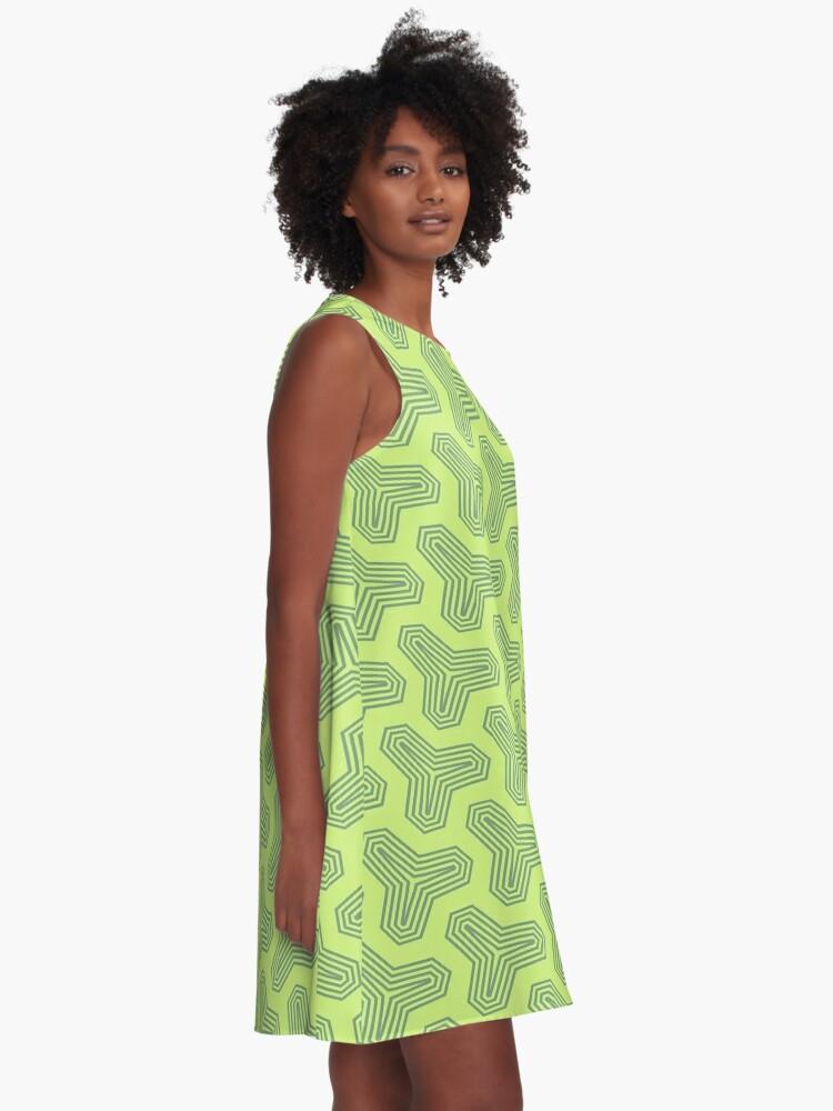 Alternate view of Retro Green Design by Julie Everhart A-Line Dress