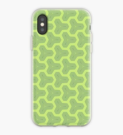 Retro Green Design by Julie Everhart iPhone Case