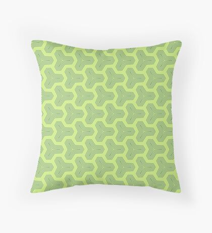 Retro Green Design by Julie Everhart Throw Pillow