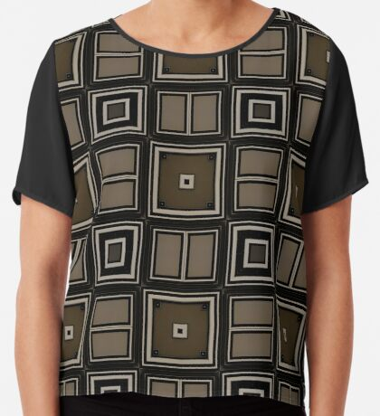 Earthy Taupe Design by Julie Everhart Chiffon Top