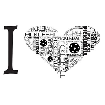 I Love Pickleball Series T-shirt  by pickleball