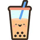 Cute Boba Milk Tea Drink by geraldbriones