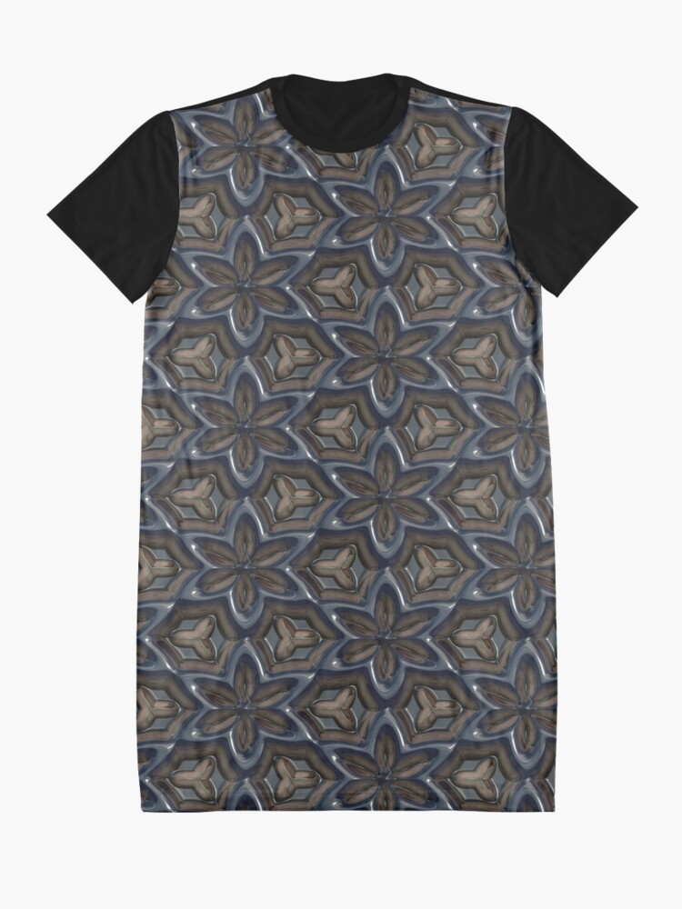 Alternate view of Metallic Flowers by Julie Everhart Graphic T-Shirt Dress
