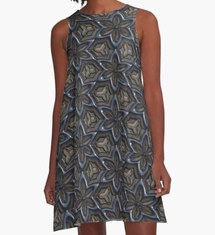 Metallic Flowers by Julie Everhart A-Line Dress