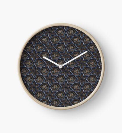Metallic Flowers by Julie Everhart Clock