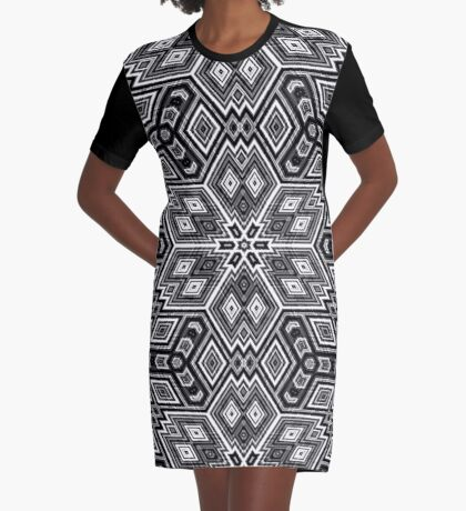 Black and White Cubes by Julie Everhart Graphic T-Shirt Dress