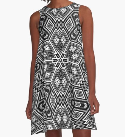 Black and White Cubes by Julie Everhart A-Line Dress