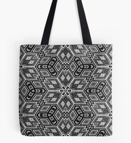Black and White Cubes by Julie Everhart Tote Bag