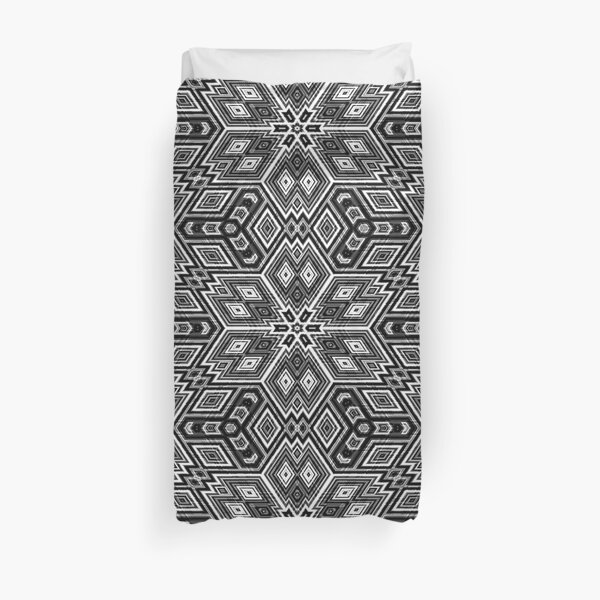 Black and White Cubes by Julie Everhart Duvet Cover