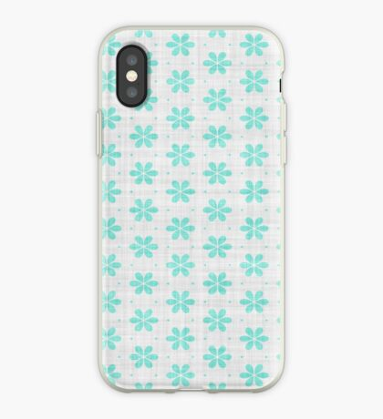 Turquoise  Flower Design by Julie Everhart iPhone Case