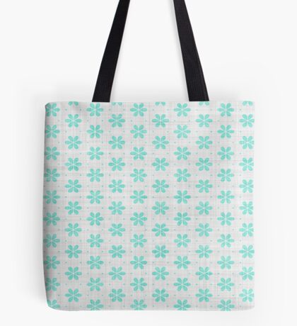 Turquoise  Flower Design by Julie Everhart Tote Bag