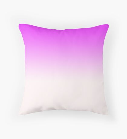 Ombre in Pink by Julie Everhart Throw Pillow