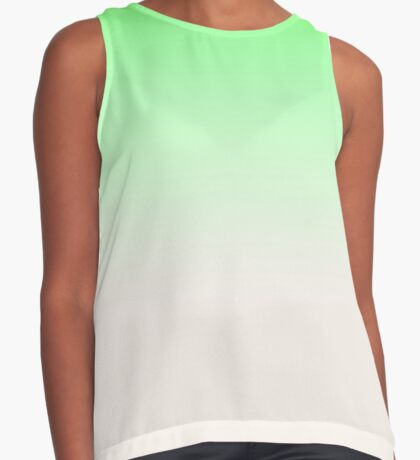 Ombre in Green by Julie Everhart Sleeveless Top