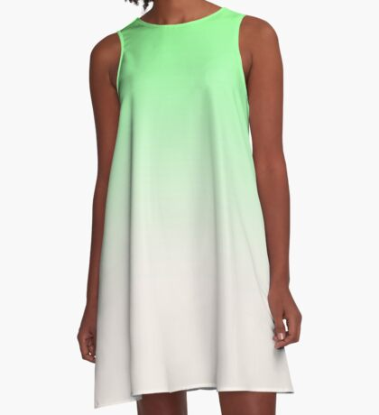 Ombre in Green by Julie Everhart A-Line Dress