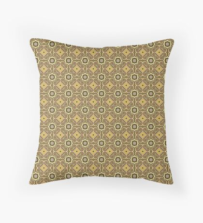 Vintage Curls by Julie Everhart Throw Pillow