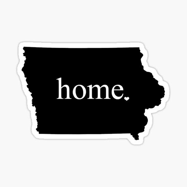 Iowa Home - small Sticker