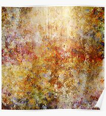 Mod Nature Trail Multicolor Pattern Poster