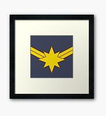 Captain Minimalist Framed Print