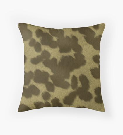Animal Fur  by Julie Everhart Throw Pillow