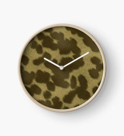 Animal Fur  by Julie Everhart Clock