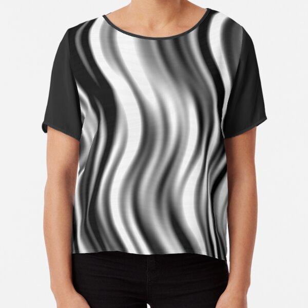 Wavy Zebra by Julie Everhart Chiffon Top