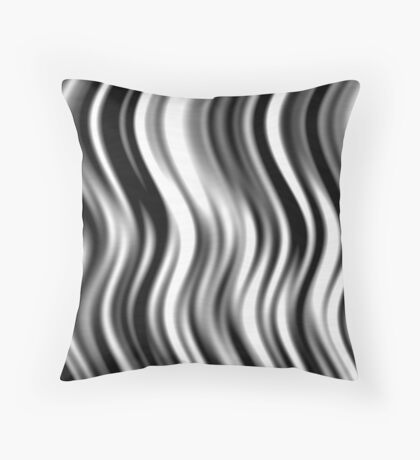 Wavy Zebra by Julie Everhart Throw Pillow