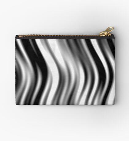 Wavy Zebra by Julie Everhart Zipper Pouch