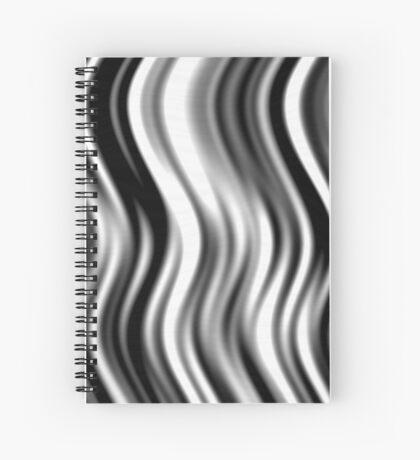 Wavy Zebra by Julie Everhart Spiral Notebook