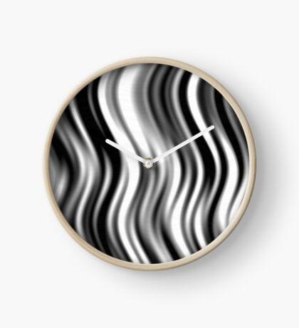 Wavy Zebra by Julie Everhart Clock
