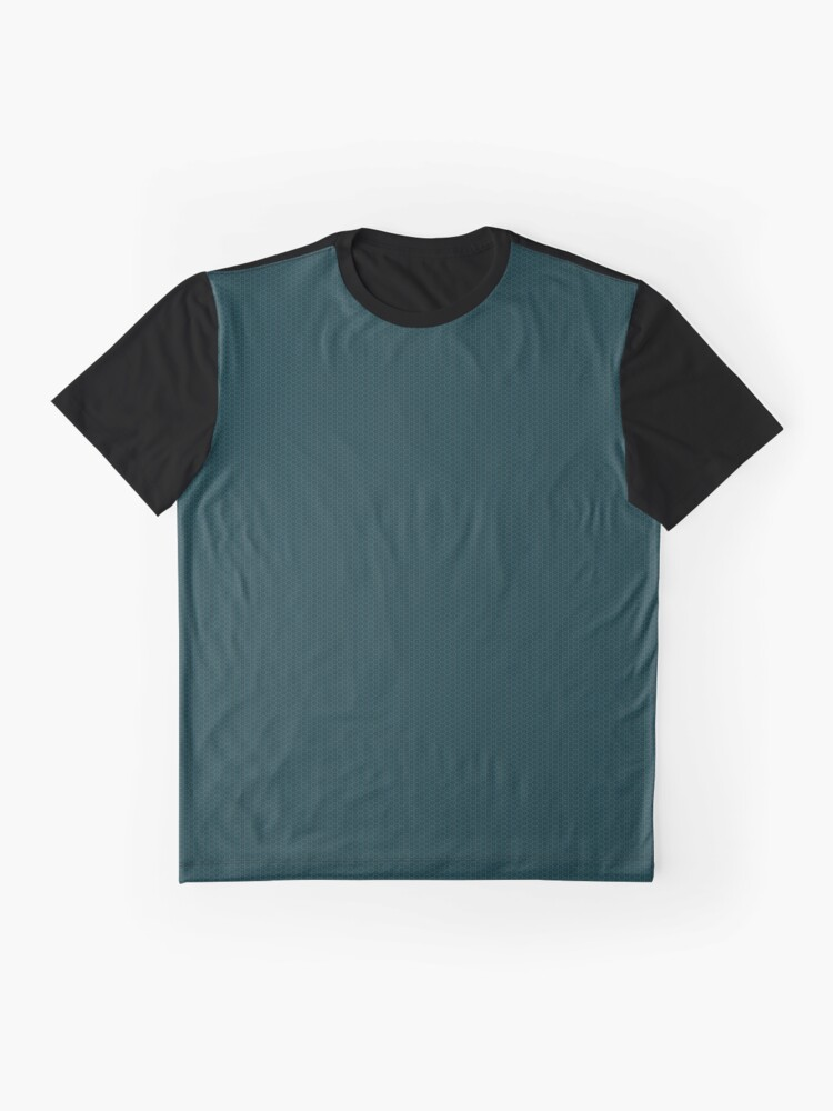 Alternate view of Deep Teal  Weave by Julie Everhart Graphic T-Shirt