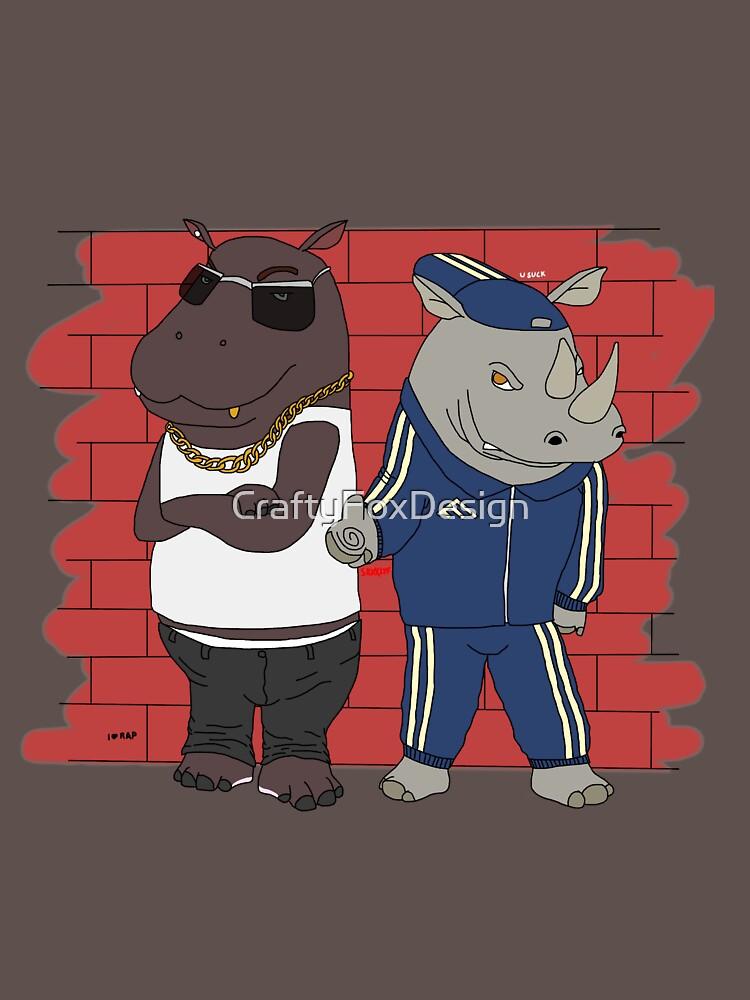 Hiphopopotamus vs Rhymenoceros de CraftyFoxDesign