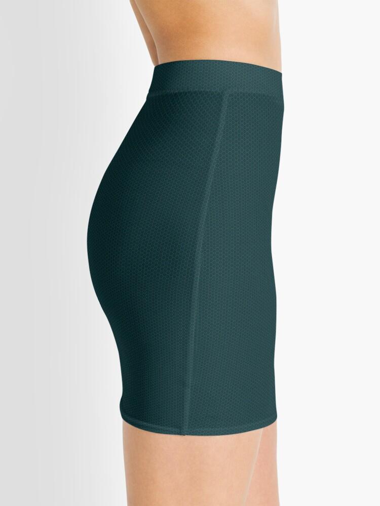 Alternate view of Deep Teal  Weave by Julie Everhart Mini Skirt