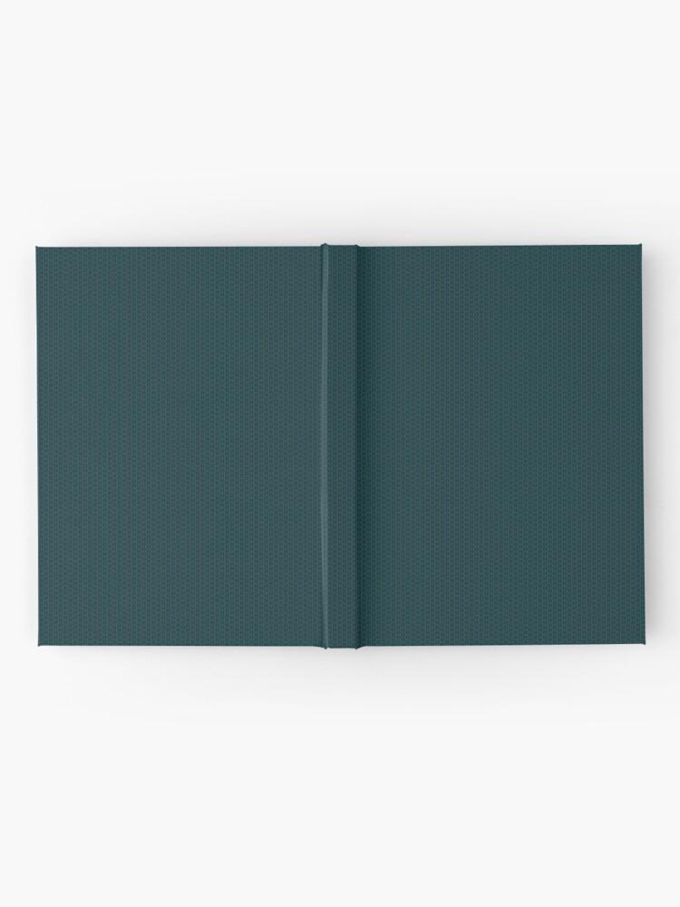 Alternate view of Deep Teal  Weave by Julie Everhart Hardcover Journal