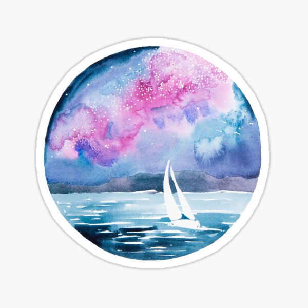 Starlight sailing Sticker