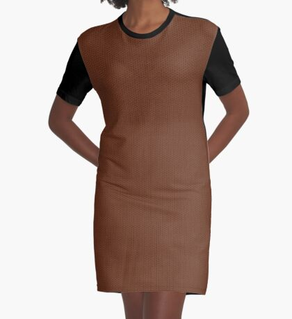 Rust Weave by Julie Everhart Graphic T-Shirt Dress