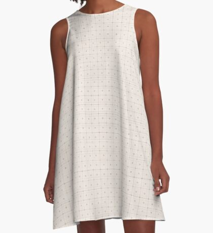 Classic Beige with Polka Dots A-Line Dress
