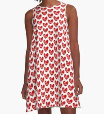 Be Mine in Hearts A-Line Dress