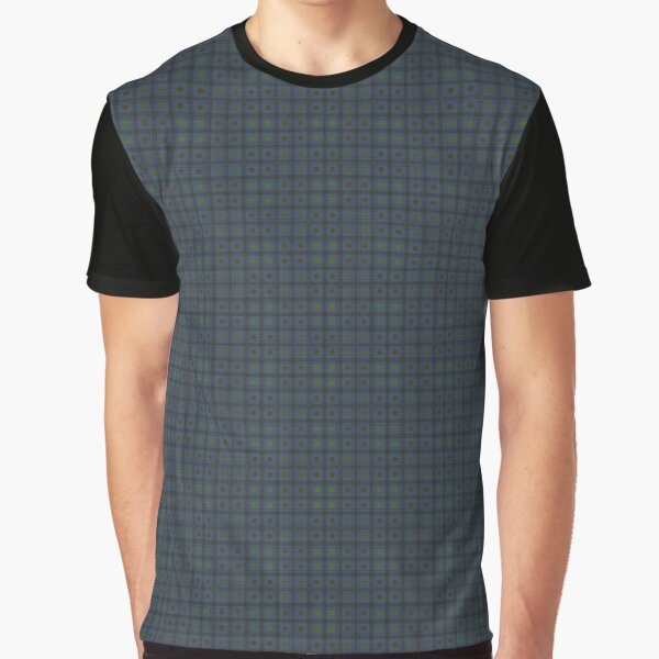 Squares & Dots in Blue Graphic T-Shirt