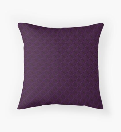 Purple Swirl by Julie Everhart Throw Pillow