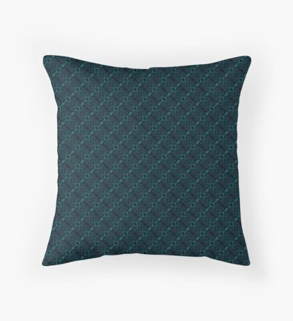 Teal & Black Swirl Throw Pillow