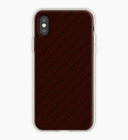 Crimson Red Swirl by Julie Everhart iPhone Case