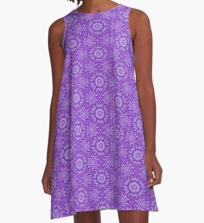 Lilac Splendor Flower Pattern by Julie Everhart A-Line Dress