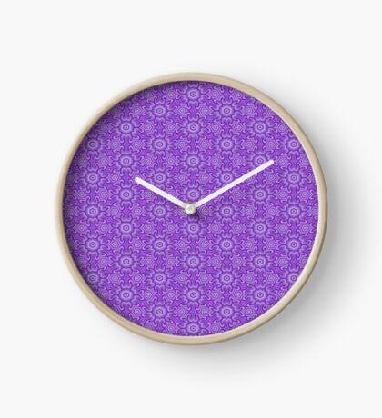 Lilac Splendor Flower Pattern by Julie Everhart Clock